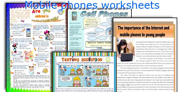 Provided research paper about cell phones